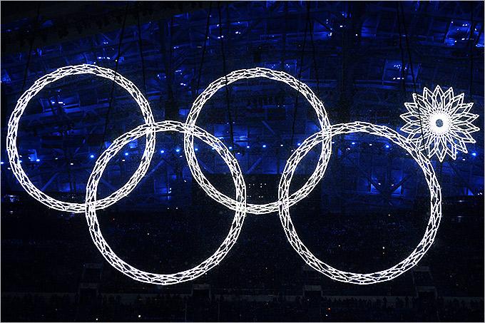 Нераскрытое кольцо на церемонии открытия