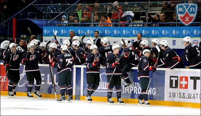 3 января 2013 года. Уфа. Молодежный чемпионат мира. 1/2 финала. Канада — США — 1:5