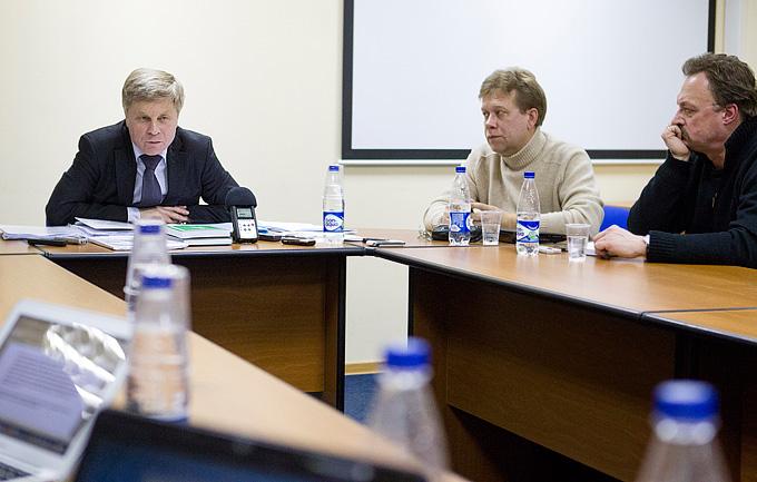 Президент РФС Николай Толстых на встрече с журналистами