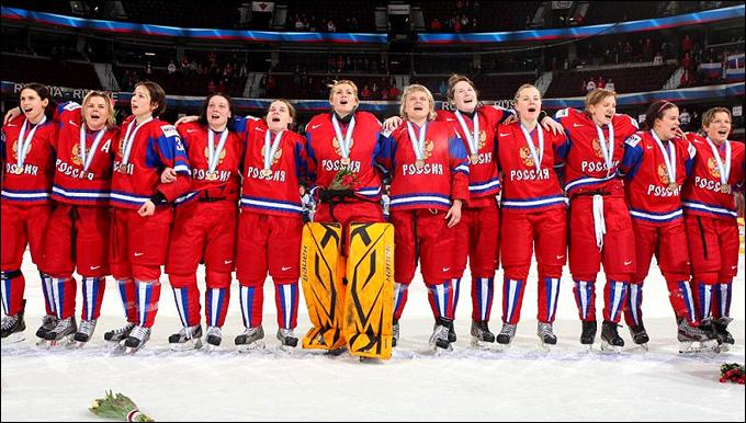Бронзовые призеры чемпионата мира. В центре, в желтых щитках, Анна Пругова