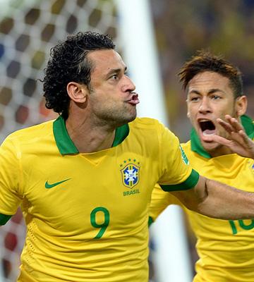 Кубок конфедераций — 2013. Финал. Бразилия — Испания — 3:0. Только что Фред открыл счет в матче