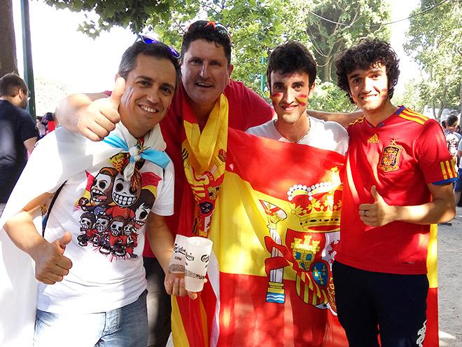 Болельщики сборной Испании