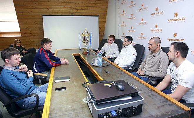 Густаво и Фернандао в редакции «Чемпионата»