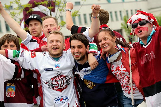 Российские и латвийские болельщики! Болеем друг за друга до очной встречи