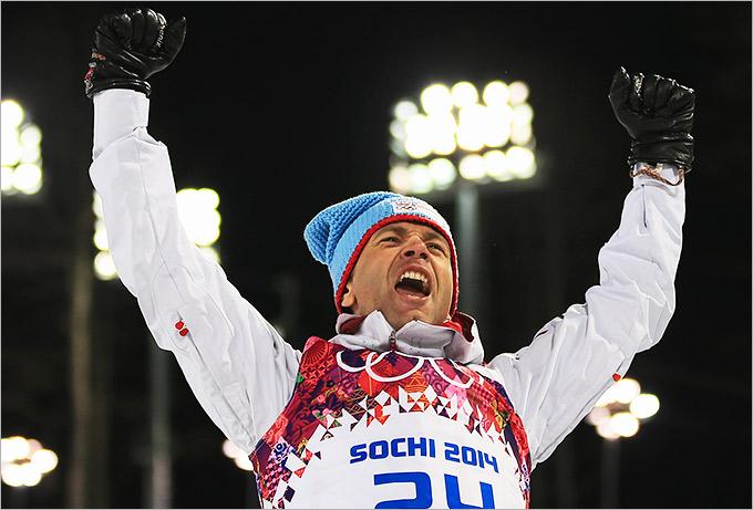 Победа 40-летнего Бьорндалена в биатлонном спринте