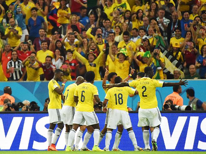 Сборная Колумбии вышла в 1/4 финала чемпионата мира