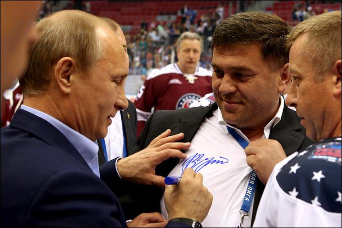 Владимир Путин и Сергей Чобану
