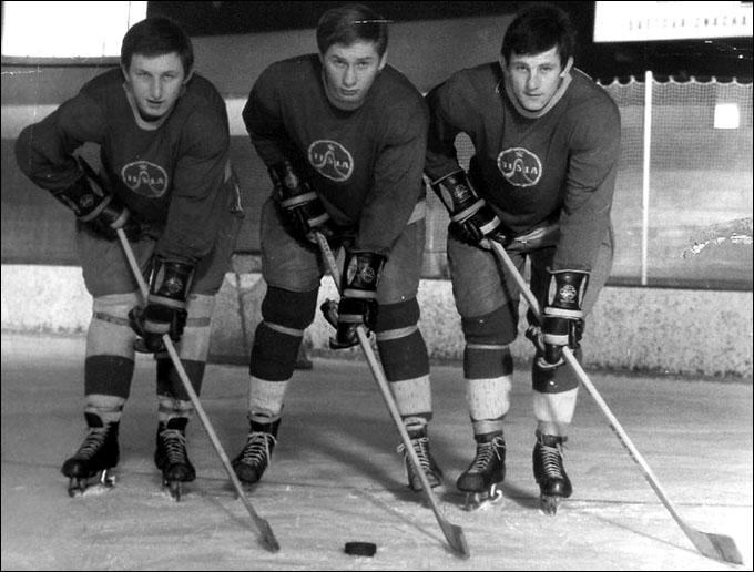 Слева направо: Владимир Мартинец, Иржи Новак и Богуслав Штясны