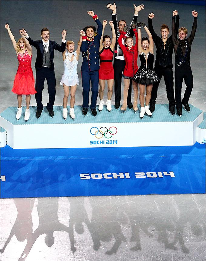 Победа российских фигуристов в командном турнире