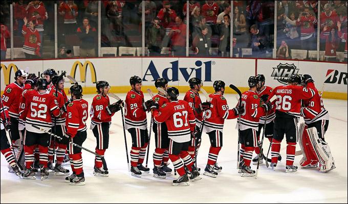 """3 мая 2013 года. Чикаго. Плей-офф НХЛ. 1/8 финала. Матч № 2. """"Чикаго"""" — """"Миннесота"""" — 5:2. Чикаго отправляется на выезд в прекрасном настроении"""