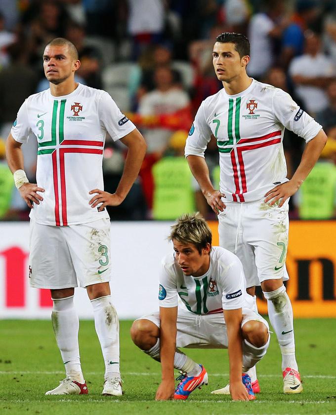Мадридская троица в сборной Португалии: Пепе, Фабиу Куэнтран и Криштиану Роналду