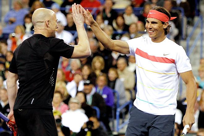 Андре Агасси назвал Рафаэля Надаля лучшим игроком за всю историю тенниса
