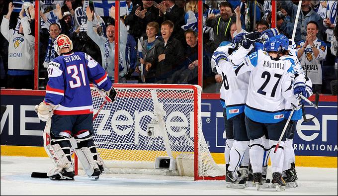 4 мая 2013 года. Хельсинки. Чемпионат мира. Групповой турнир. Финляндия — Словакия — 2:0