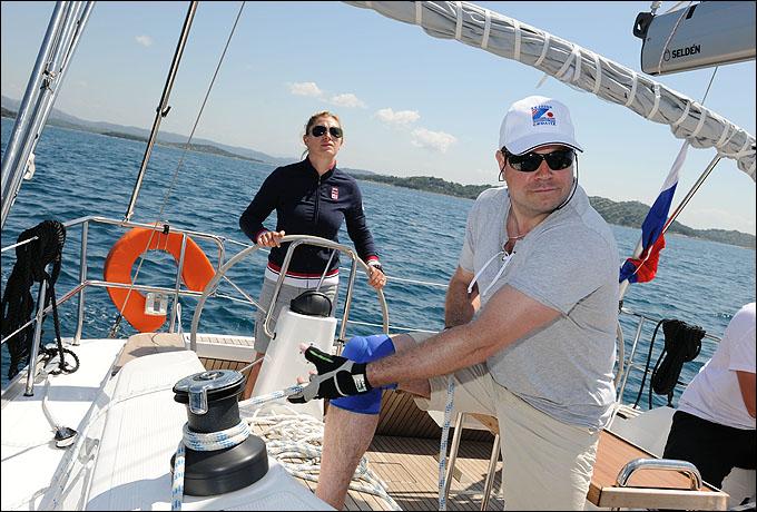 Шкипер Ларцева довольна работой своего экипажа на Mayhollydays