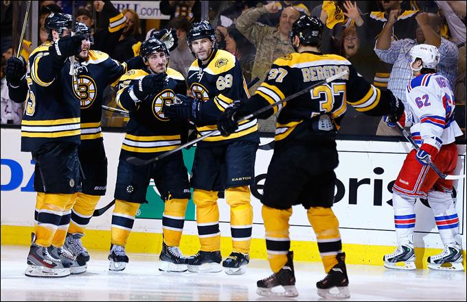 """20 мая 2013 года. Бостон. Плей-офф НХЛ. 1/4 финала. Матч № 2. """"Бостон"""" — """"Рейнджерс"""" — 5:2. """"Бостон"""" ведёт в серии — 2-0"""
