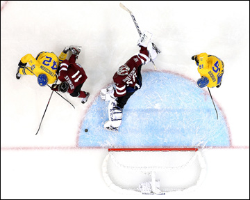 15 февраля 2014 года. Сочи. XXII зимние Олимпийские игры. Хоккей. Групповой этап. Швеция — Латвия — 5:3