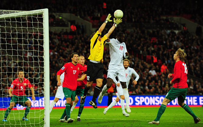 Сборная Англии — сборная Белоруси. 14 октября 2009 года. Квалификация к ЧМ-2010.