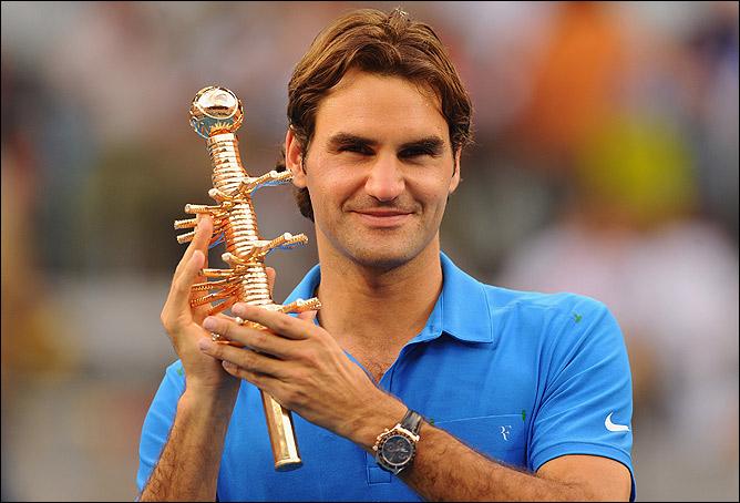 Федерер в третий раз выиграл главный приз турнира в Мадриде