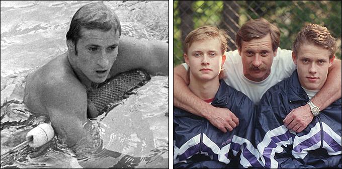 Владимир Буре с сыновьями — Валерием и Павлом