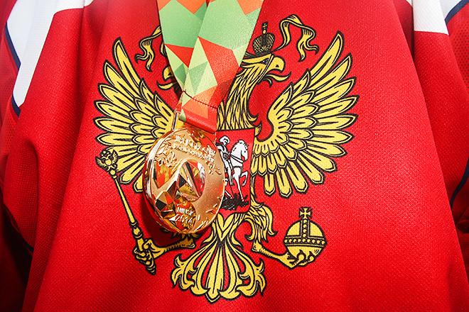 Золотая медаль чемпионата мира по хоккею