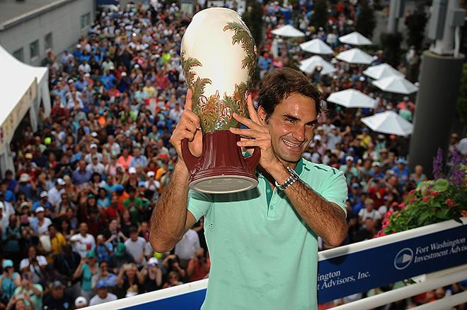 Федерер разменял восьмой десяток трофеев