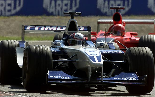 Монтойя впереди М. Шумахера на Гран-при Италии-2001