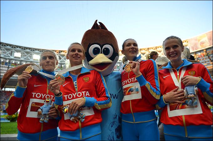 Юлия Гущина, Татьяна Фирова, Ксения Рыжова и Антонина Кривошапка