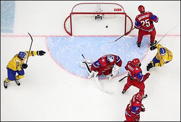 31 декабря 2013 года. Мальмё. Молодёжный чемпионат мира. Групповой этап. Швеция — Россия — 3:2. Шведы открывают счёт