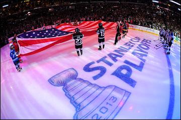 """6 мая 2013 года. Лос-Анжелес. Плей-офф НХЛ. 1/8 финала. Матч № 4. """"Лос-Анжелес"""" — """"Сент-Луис"""" — 4:3. Торжественное открытие матча"""