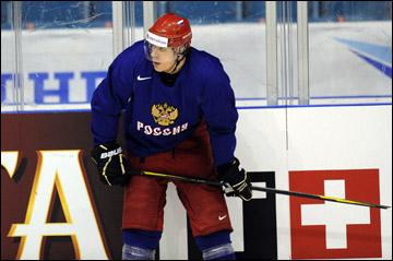 4 мая 2012 года. Стокгольм. Евгений Малкин на тренировке сборной России