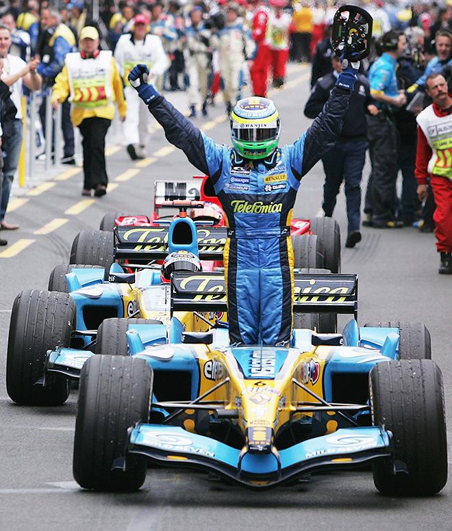 Джанкарло Физикелла — победитель Гран-при Австралии – 2005