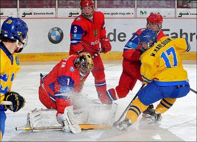 23 апреля 2011 года. Криммитшау. Чемпионат мира U-18. 1/2 финала. Швеция — Россия — 3:1.