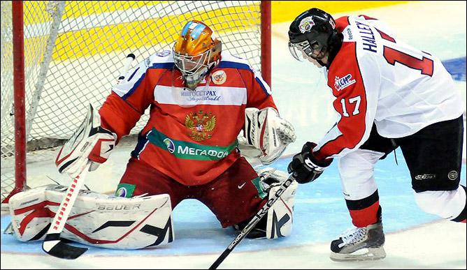 В воротах молодёжной сборной России на Subway Super Series