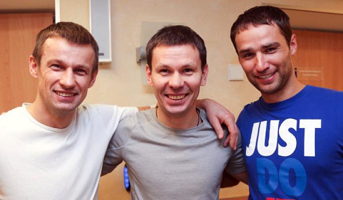 Сергей Семак, Константин Зырянов и Роман Широков