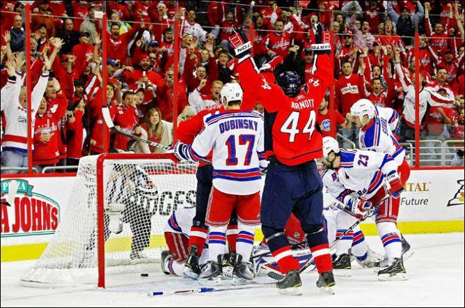 "19 апреля 2011. Вашингтон. Плей-офф НХЛ. 1/8 финала. ""Вашингтон Кэпиталз"" — ""Нью-Йорк Рейнджерс"" — 3:1"