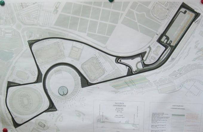 Схема трассы в Сочи