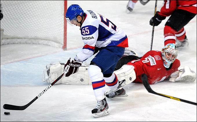 13 мая 2012 года. Хельсинки. Чемпионат мира. Групповой турнир. Швейцария — Словакия — 0:1