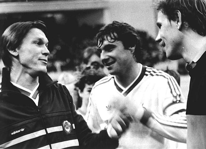Олег Блохин, Анатолий Демьяненко и Алексей Прудников