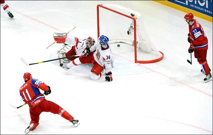 13 мая 2012 года. Стокгольм. Чемпионат мира. Групповой турнир. Россия — Чехия — 2:0
