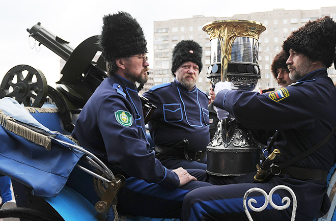 Кубок Гагарина на тачанке