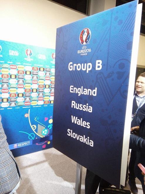 Стенд с группой сборной России