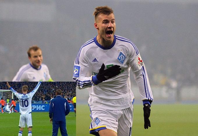 Ярмоленко сначала радовался забитому голу, потом возмущался, что его не пускают на поле