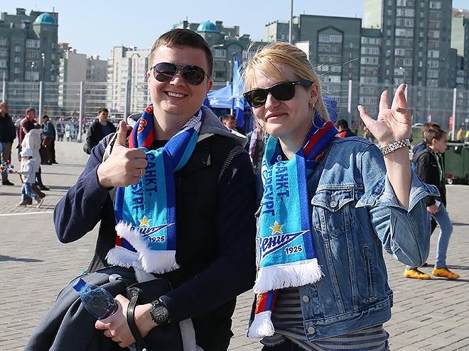 Болельщики «Зенита» в Казани