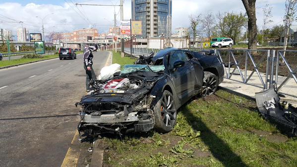Фото с места аварии Андрея Ещенко