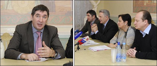 22 ноября 2011 года Москва. Пресс-конференция, посвящённая созданию Российской любительской хоккейной лиги