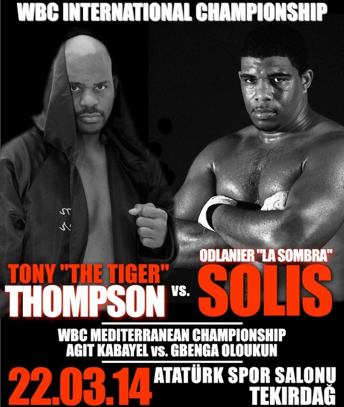 Постер к бою Одланьер Солис – Тони Томпсон.