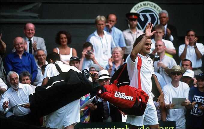 Роджер Федерер одержал сенсационную победу над Питом Сампрасом