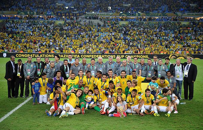 Сборная Бразилии — победительница Кубка конфедераций-2013