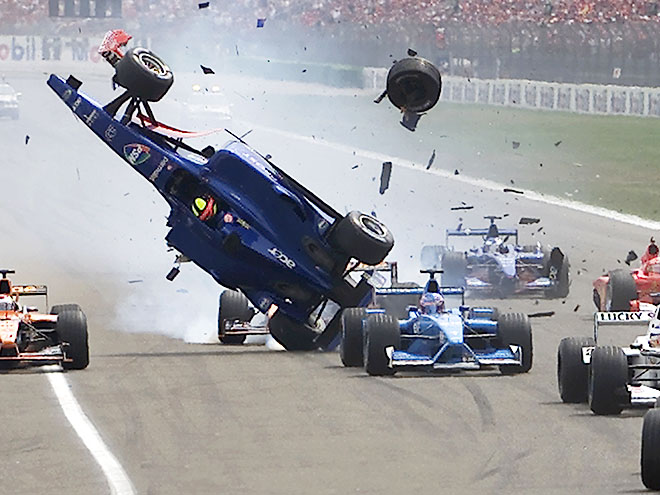Авария Бурти на старте Гран-при Германии