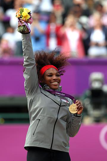 Серена Уильямс с золотом Лондонской Олимпиады